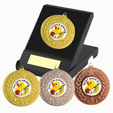 Cricket Medal in Box, Engraved, Duck Awards Medal, Humorous Cricket Award Trophy