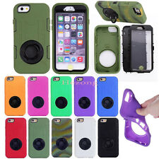 3 in 1 Rugged Hybrid Armor Case Cover With Stand Holster Belt Clip For iPhone