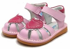 """Freycoo """"Love"""" Pink Girls Leather Sandals"""