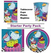 Mad Hatter Tea Party 8-48 Guest Starter Party Pack | Cups | Plates | Napkins