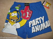 HOMER SIMPSON The Simpsons Bart New movie PARTY MEN'S BOXER SHORTS Underwear S