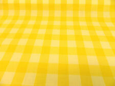 "1"" inch YELLOW GINGHAM CHECK POLYCOTTON POPLIN FABRIC"