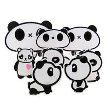New Panda Cartoon Embroidered Applique Cloth Iron On Sewing Patch DIY Accessory