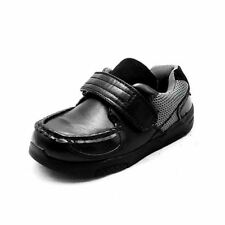 Boys Black school shoes with adjustable fastening