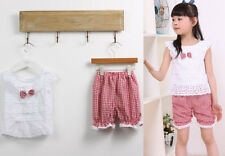 Outfit Toddler Trousers Tops+Short 1SET Pants Baby Girls Kids T-shirt Clothes