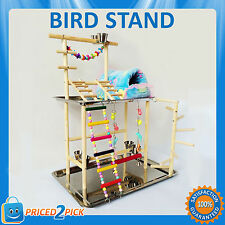 Small / Large Budgie Parrot Bird Play Stand Activity Gym Playpen Toy Avairy Cage