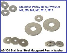 Stainless Steel Penny Repair Mudguard Washers A2-304 for Bolts M5  M6  M8  M10