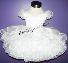 National Pageant Dress Shell  Off shoulder Babydoll Style sizes 6mos to 3/4T