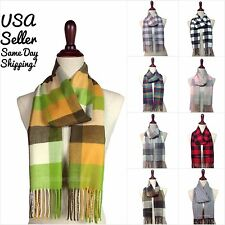 NEW Winter Warm Cashmere Feel Women's & Men's Scarf Plaid Check Pashmina Wrap