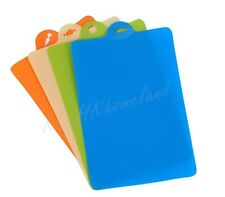 2 Pcs Assorted Color Chopping Board/Mat Plastic Flexible Cutting Slicing Kitchen