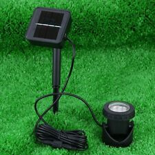 Solar Powered Submersible Pool Pond Spotlight 6 LEDs Waterproof Outdoor Garden