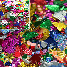 100g Multicolour Sequins & Spangles + FREE 14g of Christmas Decoration Confetti
