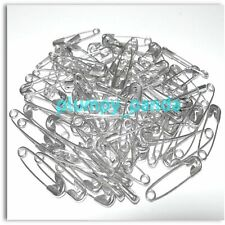 SILVER Tone Coiled Metal Safety Pins Costume Accessories Decoration Findings LOT