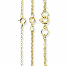 9CT SOLID GOLD 16 18 20 22 24 28 SOLID ROLO BELCHER ROPE POW CHAIN NECKLACE BOX