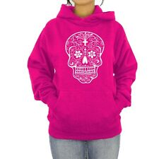 Hoodie Sugar Skull Women's Sweater Day of the Dead T Shirt Ladies Tee Sweatshirt