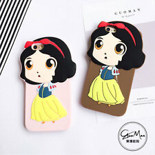 Cute Cartoon Princess Girl Silicone Rubber Case Cover for iPhone 5/5S 6/6S 6Plus
