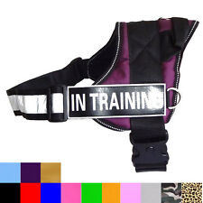 SERVICE DOG VEST Reflective Harness Removable Velcro Patches IN TRAINING