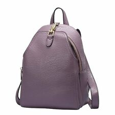 Fashion Elephant Grain Leather Satchel Women Hiking Backpack College Bookbags