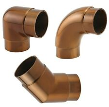 """Bar Foot Rail Elbow Fittings - Sunset Copper - 2"""" OD - 90/135 Tubing Angles"""
