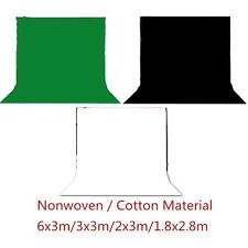 White Black Green Backdrop Background Support Stand Photography Photo Studio Kit