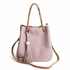 Summer Leisure Leather Bucket Tote Bags Women Travel Crossbody Bags Beach Tote