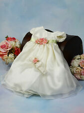 NEW SATIN PEARL BABY FLOWER GIRL DRESS HOLIDAY PARTY WEDDING COMMUNION 776