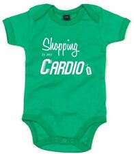 Shopping Is My Cardio , Printed Baby Grow