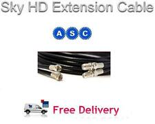 10m Freesat HD Extension Cable in Black, Sky HD Extension Cable Lead