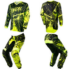 ONeal Element Enigma Neon Motocross Off-Road Dirtbike Gear Jersey Pants Combo