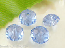 Lots Wholesale Blue Crystal Glass Faceted Rondelle Beads Finding 8x6mm