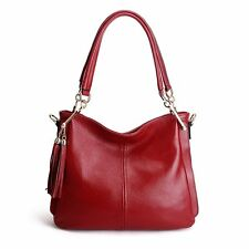 Women Leisure Real Leather Tote Bags Hobo Handbags Shopping Shoulder Bag
