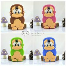 For Samsung Galaxy SIV S4 I9500 Cute 3D Cartoon Funny Monkey Silicone Case Cover