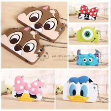Disney Daisy Squirrel Silicone Soft Case Cover + Chian for  iPhone 6/6S 6Plus