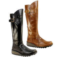 WOMENS MOL FLY LONDON KNEE HIGH CALF LEATHER BOOTS 3-8