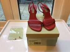Dune slingback red leather shoes
