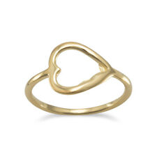 Open Heart Ring 14k Gold-plated Sterling Silver