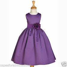 NEW PLUM PURPLE PAGEANT HOLIDAY FORMAL FLOWER GIRL DRESS 2 2T 3 3T 4 5/6 6X 8 10