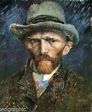 Self Portrait, Vincent Van Gogh - Fine Art Poster or Canvas Print 20x25