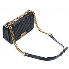 Gold Chain Boyish Quilted Flap Bag / Crossbody Bag / Shoulder Bag Made in KOREA