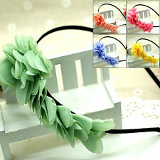Lovely Fabric Hair Accessories Princess Candy Colors Hair Hoop Girls Hair Bands