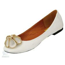 Sexy Ladies Shoes White Leather Round Toe Ballet Flat Heel Zipper Flower Pattern
