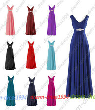 New STOCK Beaded  Formal Evening Party Prom Ball Gown Bridesmaid Dress Size 6-20