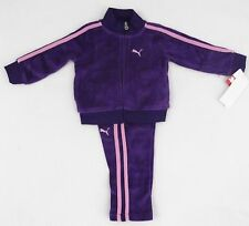 New Baby Girls Puma Track Suit Outfit Jacket Pants Purple Infant Size 18 Months