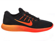 NEW MENS NIKE LUNARGLIDE 8 RUNNING SHOES TRAINERS BLACK / TEAM RED / TOTAL CRIMS
