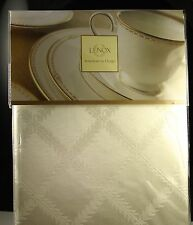 Lenox American By Design Laurel Leaf Ivory Tablecloth Round Oblong Sizes NWT