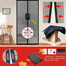 Mesh Insect Fly Bug Mosquito Door Curtain Net Netting Mesh Screen Magnets OY