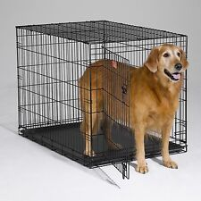 Folding 1 or 2 Door Dog Crate cage kennel portable travel car pet cat steel NEW