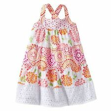 Penelope Mack Mosaic Floral Eyelet Spring/Summer Sun Dress Girl Clothes 4 5 6 6x