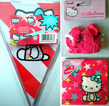 HELLO KITTY 5m 16 FLAG BUNTING 20 NAPKINS 10 BALLOONS Kids Party Dk pink + stars
