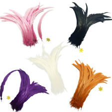 10PCS Dyeing Rooster Tail Feathers 35-40cm Craft Feather
